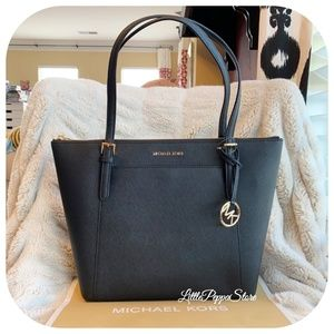 MICHAEL KORS CIARA EAST WEST TOTE BLACK